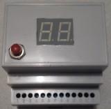 Diferencijalni termostat sa LED displejem za šinu